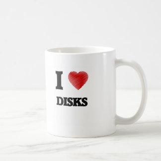 私はディスクを愛します コーヒーマグカップ