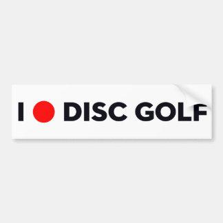 私はディスクゴルフバンパーステッカーを愛します バンパーステッカー