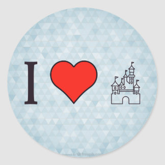 私はディズニーランドを愛します ラウンドシール