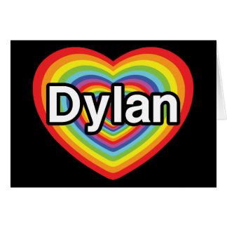 私はディランの虹のハートを愛します カード