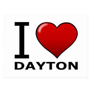 私はデイトン、オハイオ州-オハイオ州--を愛します ポストカード