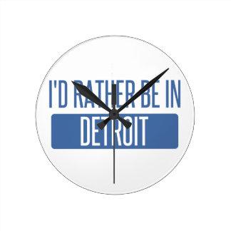 私はデトロイトにむしろいます ラウンド壁時計