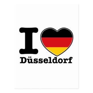 私はデュッセルドルフを愛します ポストカード
