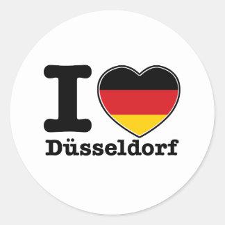 私はデュッセルドルフを愛します ラウンドシール