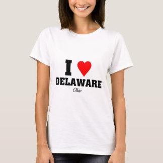 私はデラウェア州を愛します Tシャツ