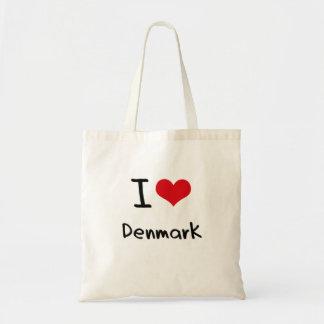 私はデンマークを愛します トートバッグ