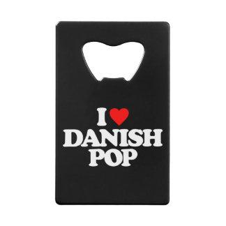 私はデンマーク語の破裂音を愛します クレジットカード ボトルオープナー