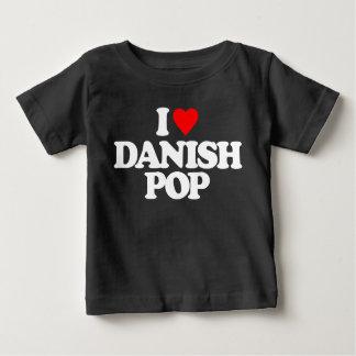 私はデンマーク語の破裂音を愛します ベビーTシャツ