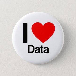 私はデータを愛します 5.7CM 丸型バッジ