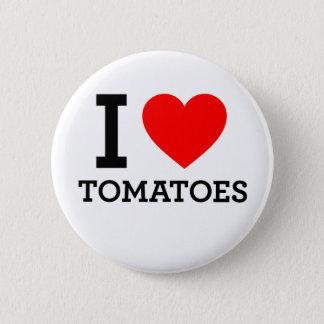 私はトマトを愛します 5.7CM 丸型バッジ