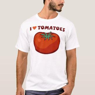 私はトマトを愛します Tシャツ