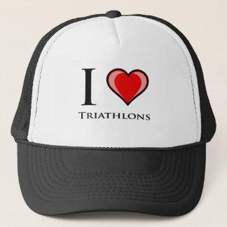 私はトライアスロンを愛します キャップ