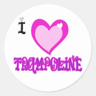 私はトランポリンを愛します ラウンドシール