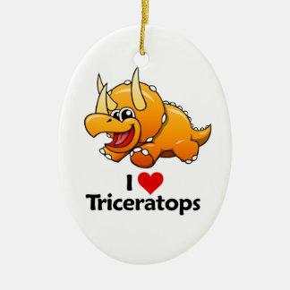 私はトリケラトプスを愛します セラミックオーナメント