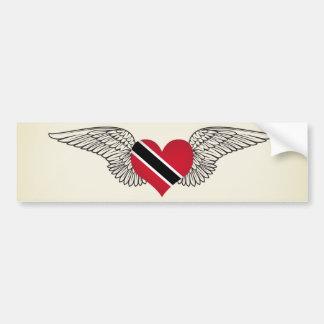 私はトリニダードトバゴ-翼--を愛します バンパーステッカー