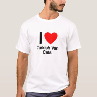 私はトルコのvan catsを愛します tシャツ