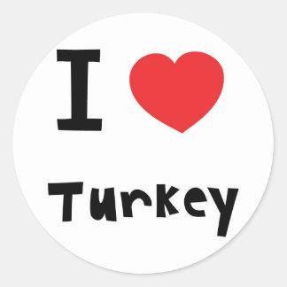 私はトルコを愛します ラウンドシール