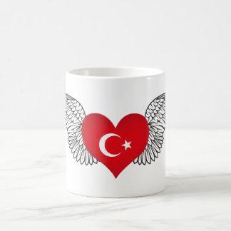 私はトルコ-翼--を愛します コーヒーマグカップ