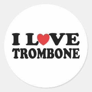 私はトロンボーンを愛します ラウンドシール