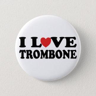 私はトロンボーンボタンを愛します 5.7CM 丸型バッジ