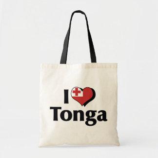 私はトンガの旗を愛します トートバッグ