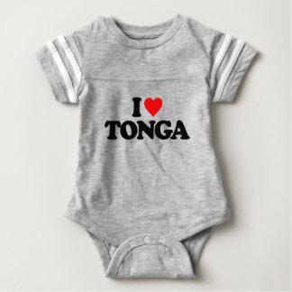私はトンガを愛します ベビーボディスーツ