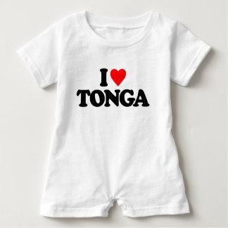 私はトンガを愛します ベビーロンパース