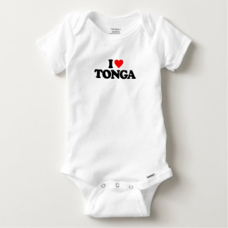 私はトンガを愛します ベビーワンシー