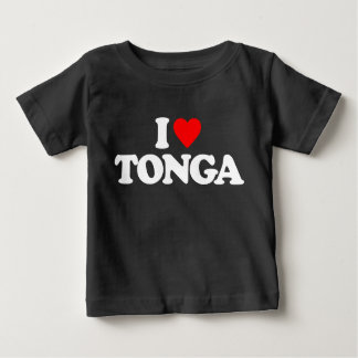 私はトンガを愛します ベビーTシャツ