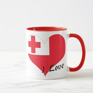 私はトンガを愛します マグカップ