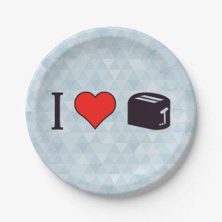 私はトースターを使用することを愛します ペーパープレート