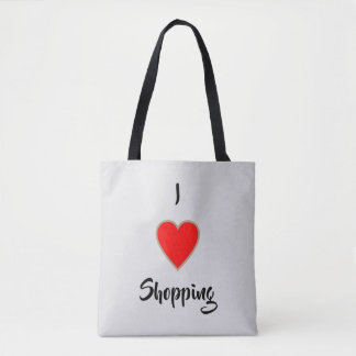 私はトートの買物をする>Shopping引用文を愛します トートバッグ