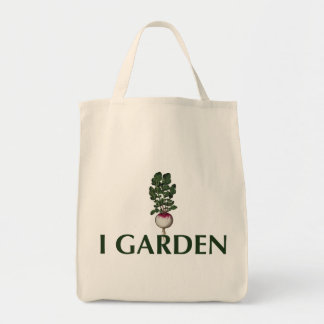 私はトートラディッシュの食料雑貨の庭いじりをします トートバッグ