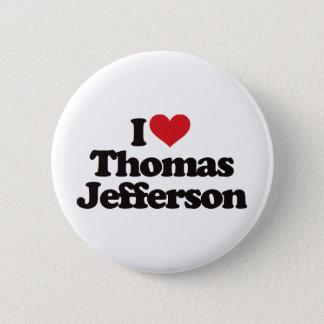 私はトーマス・ジェファーソンを愛します 缶バッジ