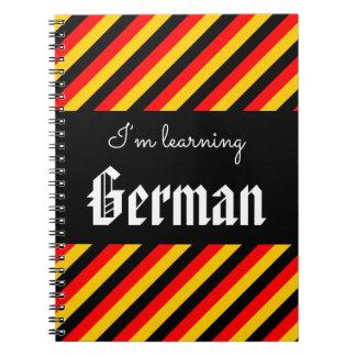 """""""私はドイツの""""ノートを学んでいます ノートブック"""