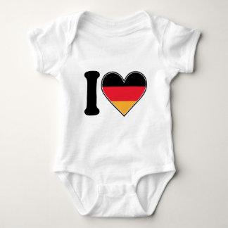 私はドイツを愛します ベビーボディスーツ