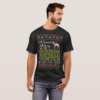 私はドイツShorthairedポインターのクリスマスのティーに話します Tシャツ