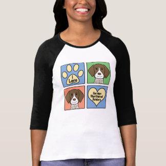 私はドイツShorthairedポインターを愛します Tシャツ