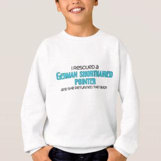私はドイツShorthairedポインターを救助しました(女性) スウェットシャツ