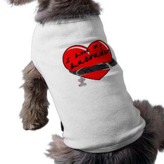 私はドッグカラーとの私のラブラドールのハートを愛します ペット服