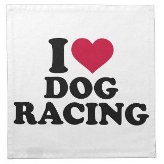私はドッグレースを愛します ナプキンクロス