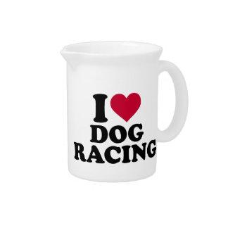 私はドッグレースを愛します ピッチャー