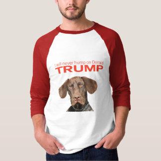 私はドナルド・トランプのこぶ決して! Tシャツ