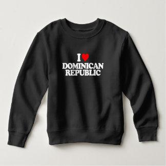 私はドミニカ共和国を愛します スウェットシャツ