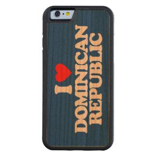 私はドミニカ共和国を愛します CarvedチェリーiPhone 6バンパーケース