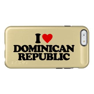 私はドミニカ共和国を愛します INCIPIO FEATHER SHINE iPhone 6ケース