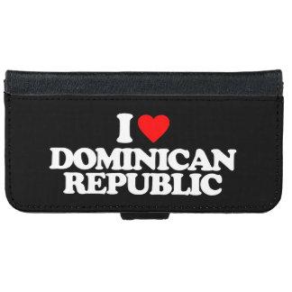 私はドミニカ共和国を愛します iPhone 6/6S ウォレットケース