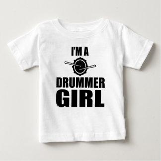 私はドラマーの女の子です ベビーTシャツ