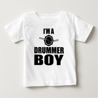 私はドラマーの男の子です ベビーTシャツ