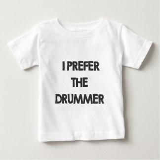 私はドラマーを好みます ベビーTシャツ